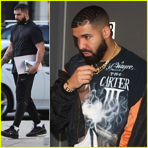 Drake Steps Out For Dinner With Pals After Business Meetings