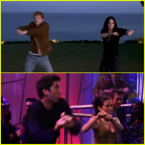Ed Sheeran Does the Ross & Monica Dance 'Routine' With Courteney Cox!