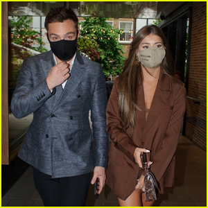 Ed Westwick Looks Sharp While Attending an Event with Girlfriend Tamara Francesconi