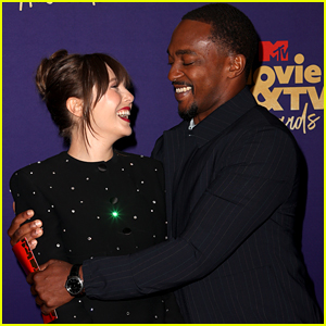 Marvel's Elizabeth Olsen & Anthony Mackie Had the Cutest Reunion at the MTV Awards 2021 (Video)