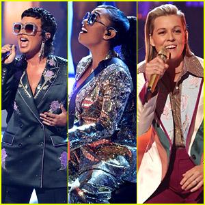 Demi Lovato, H.E.R., & Brandi Carlile Perform an Elton John Tribute at iHeartRadio Music Awards 2021 (Video)