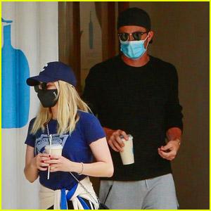 Emma Roberts Goes Sporty for Coffee Run with Boyfriend Garrett Hedlund
