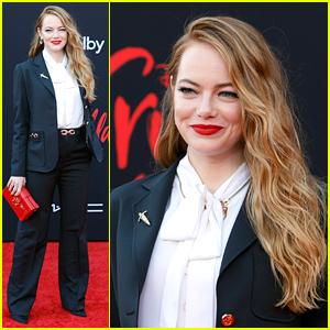 Emma Stone Hits 'Cruella' Red Carpet in a Stylish Suit!
