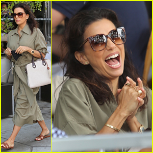 Eva Longoria Laughs A Lot During Lunch Out With Friends