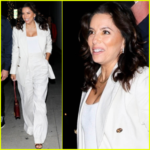 Eva Longoria Wows in White Outfit for Dinner with Friends