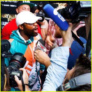 Floyd Mayweather & Jake Paul Get Into Physical Altercation at Media Event - See Every Photo & Video