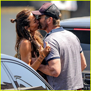 Gerard Butler & Girlfriend Morgan Brown Share Steamy Kiss in These Photos from Their Lunch Date