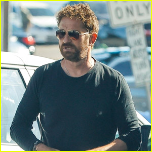 Gerard Butler Fuels Up His Truck While Out in Malibu