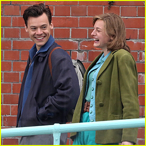 Harry Styles Is All Smiles with Emma Corrin in These Cute 'My Policeman' Set Photos!