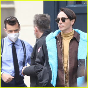 Harry Styles & Love Interest David Dawson Get Into Character on Set of 'My Policeman'