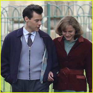 Harry Styles Films Scenes at Royal Pavilion With Emma Corrin for 'My Policeman'
