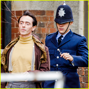 Harry Styles Runs After David Dawson in More Photos from 'My Policeman' Set!