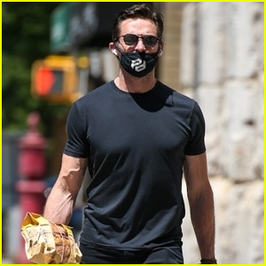 Hugh Jackman Picks Up a Loaf of Bread During a Grocery Run in NYC