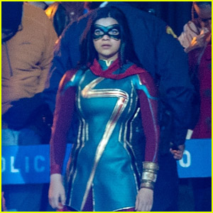 Iman Vellani Spotted in Official 'Ms. Marvel' Costume in New Set Photos!