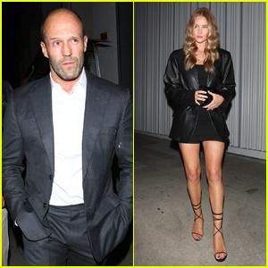 Jason Statham & Rosie Huntington-Whiteley Attend a Birthday Dinner Together in LA