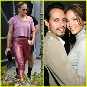 Jennifer Lopez Hits the Gym Amid Report That She Went Out for Coffee with Ex Marc Anthony