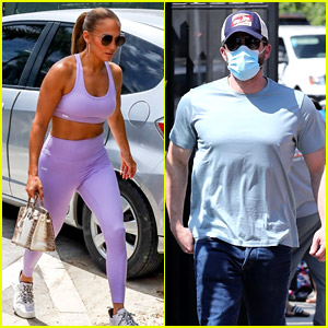 Jennifer Lopez Hits the Gym in Miami After Ben Affleck Flies Back to L.A.