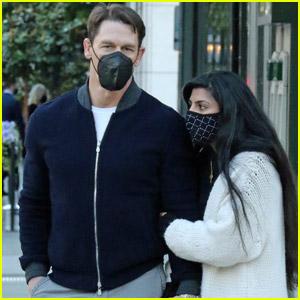 John Cena & Wife Shay Shariatzadeh Keep Close During Romantic Stroll