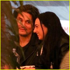 John Mayer Enjoys Dinner With Cazzie David in LA