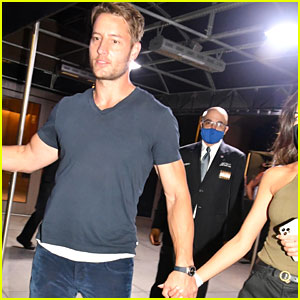 Justin Hartley & New Wife Sofia Pernas Enjoy a Date Night at NYC Basketball Game