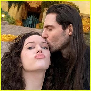 Marvel's Kat Dennings Kisses Andrew WK, Fans Wonder If He's Still Married