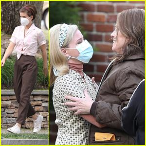 Elizabeth Banks & Kate Mara Celebrate Sigourney Weaver's Last Day on 'Call Jane' Set