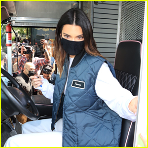 Kendall Jenner Drives A Delivery Truck To Promote Her New Tequila Brand 818