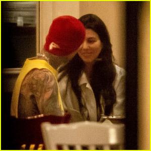 Kourtney Kardashian & Travis Barker Spotted On a PDA-Filled Dinner Date!