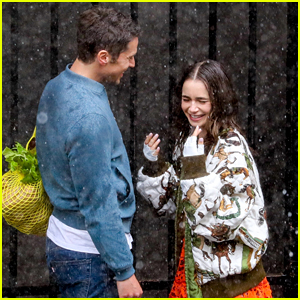 Lily Collins Gets Caught in the Rain with Lucas Bravo for 'Emily in Paris' Season 2 Scene!