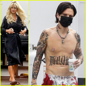 Sebastian Stan's Shirtless Torso Is Tattooed to Look Identical to Tommy Lee's Body!