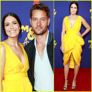 Mandy Moore Goes Bright & Colorful at MTV Movie & TV Awards 2021 with Justin Hartley!