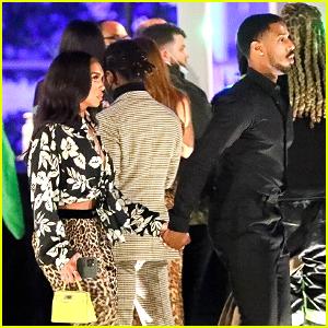 Michael B. Jordan & Lori Harvey Hold Hands While Arriving at Drake's BBMAs Party