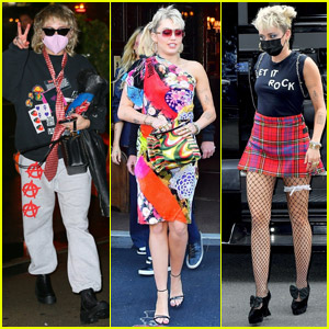 Miley Cyrus Shows Off Her Rockstar Style While Out in NYC!
