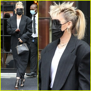 Miley Cyrus Has Her Hair in Mohawk & Ponytail While Stepping Out Ahead of 'SNL' Performance!