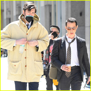 Nicholas Braun & Jeremy Strong Take a Break From Filming 'Succession' Season Three in NYC