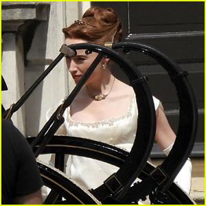 Phoebe Dynevor Spotted as Daphne While Filming 'Bridgerton' Season 2