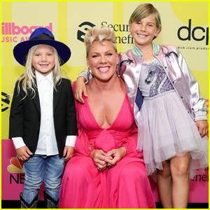 Icon Award Recipient Pink & Her Kids Attend Billboard Music Awards 2021!