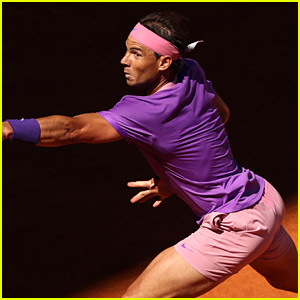 Rafael Nadal Breaks Out Those Tight Pink Shorts Again While Competing in Madrid!