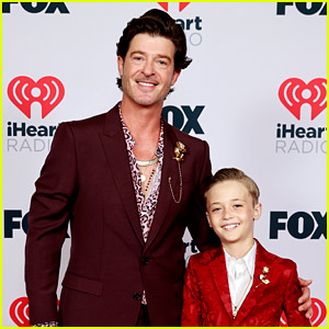 Robin Thicke Brought His Son Julian to the iHeartRadio Music Awards 2021!