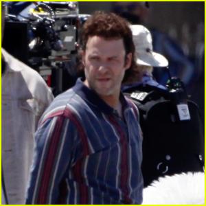 Seth Rogen Rocks a Mullet on the Set of 'Pam & Tommy'