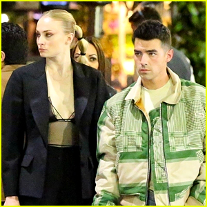 Sophie Turner Wears a Sexy Chic Outfit for Dinner Date with Joe Jonas