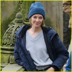 Uma Thurman Films Her Upcoming Apple TV+ Series in NYC's Central Park