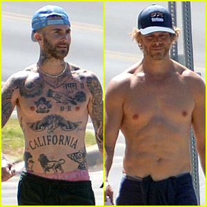 Adam Levine & Eric Christian Olsen Have Been Going on Daily Shirtless Walks in Hawaii!