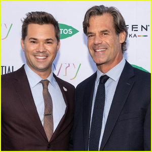 Andrew Rannells & Boyfriend Tuc Watkins Couple Up for Portraits of Pride Event!