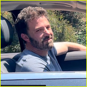 Ben Affleck Photographed Leaving Jennifer Lopez's House with a Smile on His Face