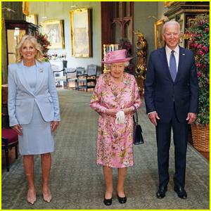 Queen Elizabeth Meets President Joe Biden & First Lady Jill Biden at Windsor Castle