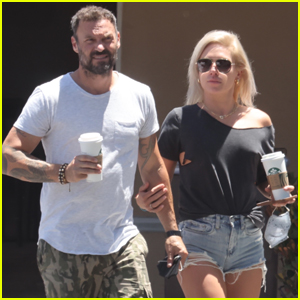 Brian Austin Green & Girlfriend Sharna Burgess Keep Close During Starbucks Run