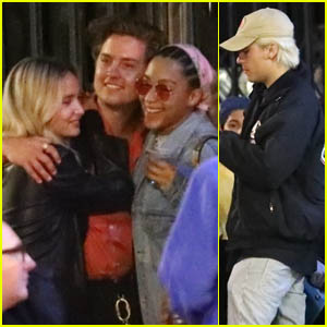 Dylan & Cole Sprouse Hang Out with Stella Maxwell, Camila Mendes & Charles Melton