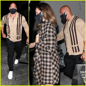 Dwayne Johnson Grabs Dinner With Wife Lauren Hashian After 'DC League of Super-Pets' Cast Reveal