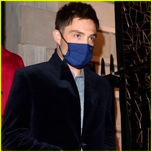 Ed Westwick Looks Suave During Night Out in London